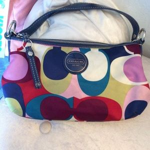 Mini Crossbody Multi Color Auth Coach Purse